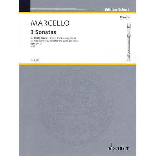 Schott 6 Sonatas, Op. 2, Volume 1 (1-3) (for Treble Recorder and B.C.) Schott Series