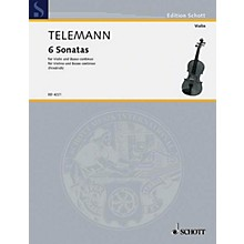 Schott Music 6 Sonatas Schott Series Composed by Georg Philipp Telemann