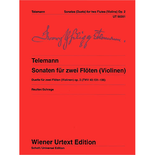 Carl Fischer 6 Sonatas for 2 Flutes (Or Violins) (Book + Sheet Music)