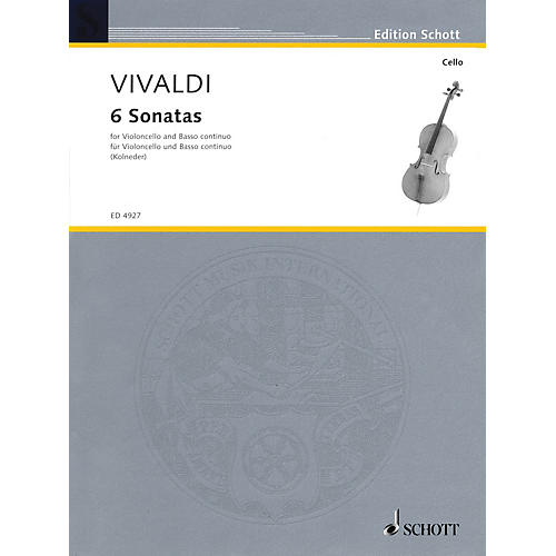 Schott 6 Sonatas (for Violoncello and Basso Continuo) Schott Series