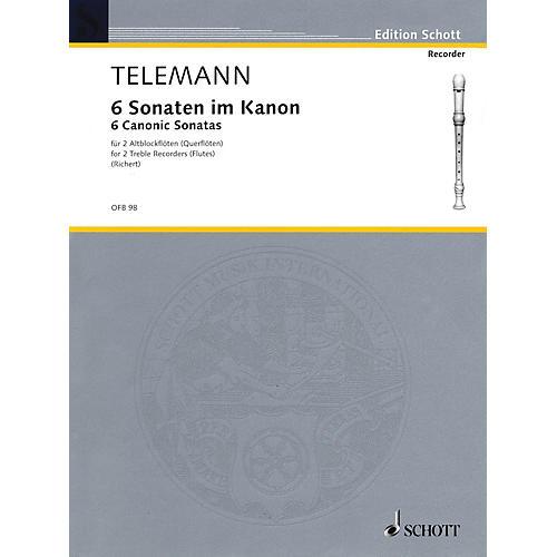 Schott 6 Sonatas in Canon, Op. 5 Schott Series by Georg Philipp Telemann-thumbnail