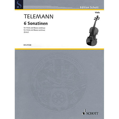 Schott 6 Sonatinas for Viola and Basso Continuo String Series Softcover-thumbnail
