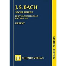 G. Henle Verlag 6 Suites for Violoncello BWV 1007-1012 (Study Score) Henle Study Scores Series
