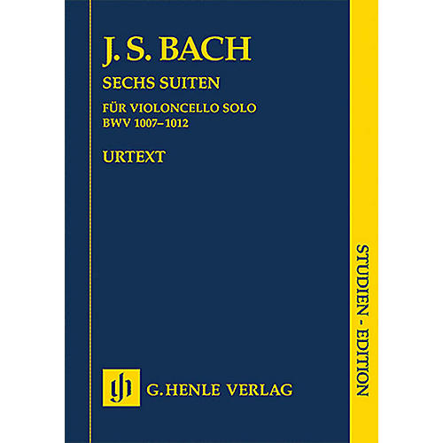 G. Henle Verlag 6 Suites for Violoncello BWV 1007-1012 (Study Score) Henle Study Scores Series-thumbnail
