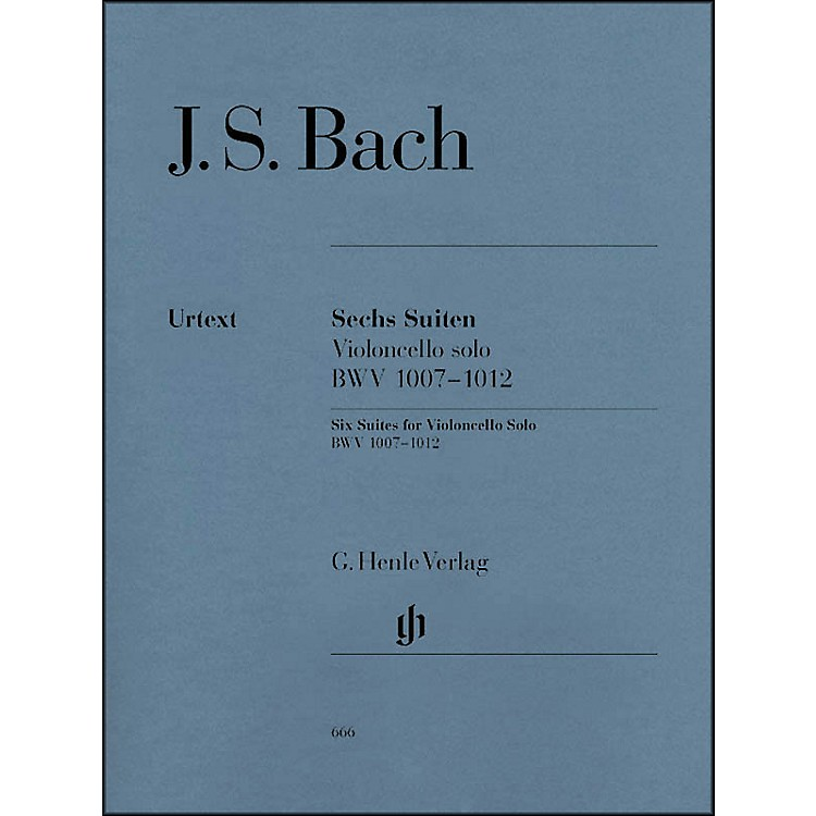 G. Henle Verlag6 Suites for Violoncello Solo BWV 1007-1012 By Bach