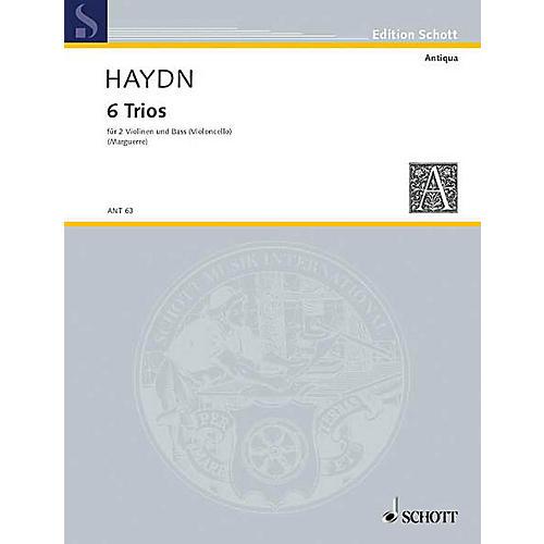 Schott Music 6 Trios Schott Series Composed by Joseph Haydn-thumbnail