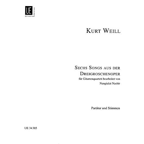 Hal Leonard 6 (six) Songs From Threepenny Opera For Guitar Quartet Score And Parts Guitar Series-thumbnail