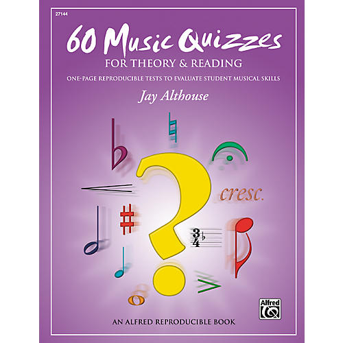 Alfred 60 Music Quizzes for Theory and Reading (Book)-thumbnail