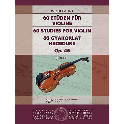 Editio Musica Budapest 60 Studies, Op. 45 EMB Series by Heinrich Wohlfahrt