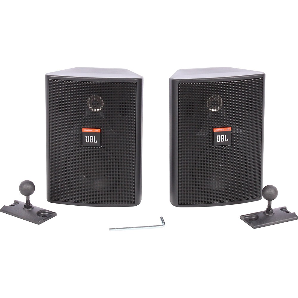Jbl Control 23T 2 Way 3 1 2 Indoor Outdoor Speaker Pair Black