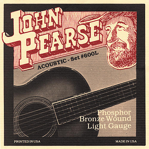 John Pearse 600L Bronze Acoustic Guitar Strings