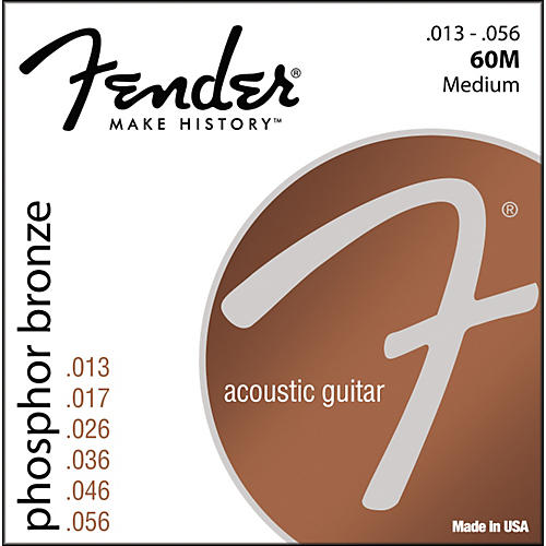 Fender 60M Phosphor Bronze Acoustic Strings - Medium-thumbnail