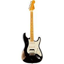Fender Custom Shop '60s Imperial Arc Stratocaster Maple Fingerboard HSS Masterbuilt by Dale Wilson Black over Shoreline Gold
