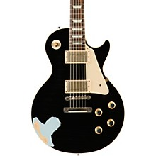 60s Standard Historic Les Paul Lightly Aged Electric Guitar Black Over Frost Blue