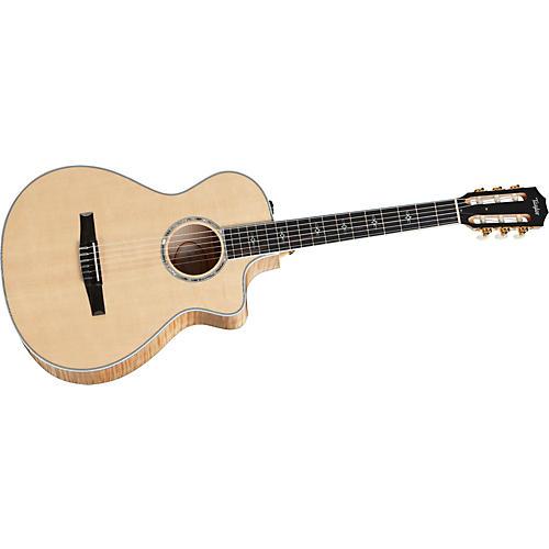 Taylor 612ce-L Maple/Spruce Grand Concert Left-Handed Acoustic-Electric Guitar-thumbnail