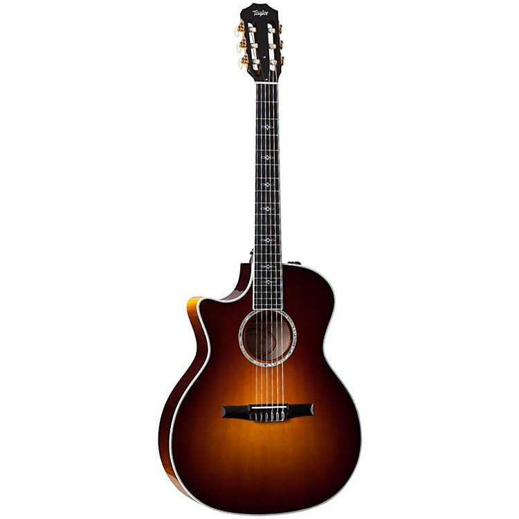 Taylor 614ce-N-L Maple/Spruce Nylon String Grand Auditorium Left-Handed Acoustic-Electric Guitar Natural