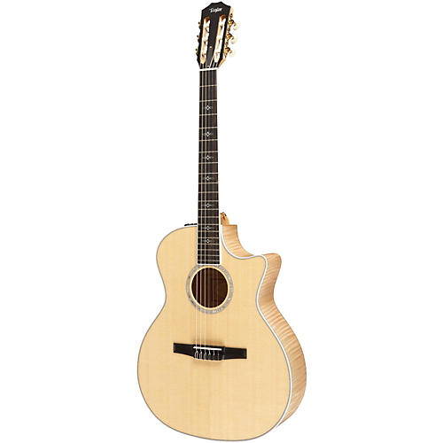 Taylor 614ce-N Maple/Spruce Nylon String Grand Auditorium Acoustic-Electric Guitar