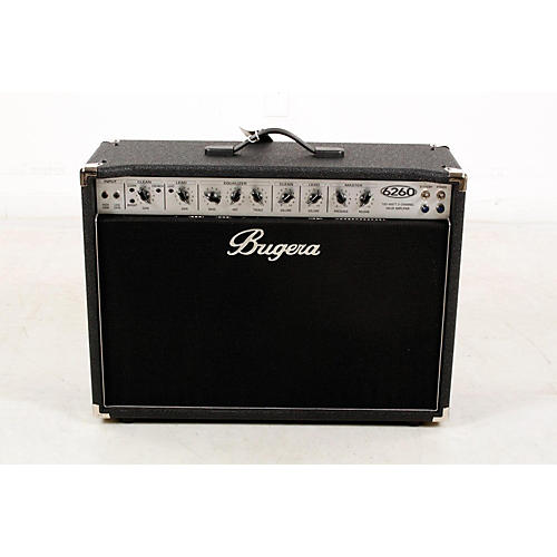 open box bugera 6260 120w 2x12 2 channel tube guitar combo amp with reverb regular 888365957869. Black Bedroom Furniture Sets. Home Design Ideas
