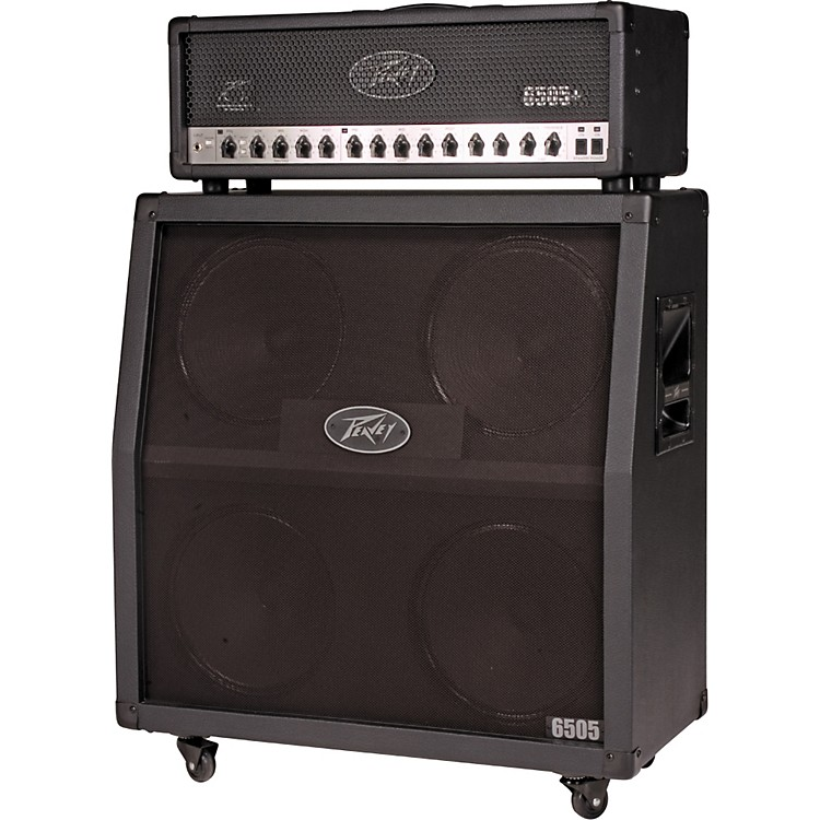 Peavey 6505 Plus and 4x12 Half Stack Angled