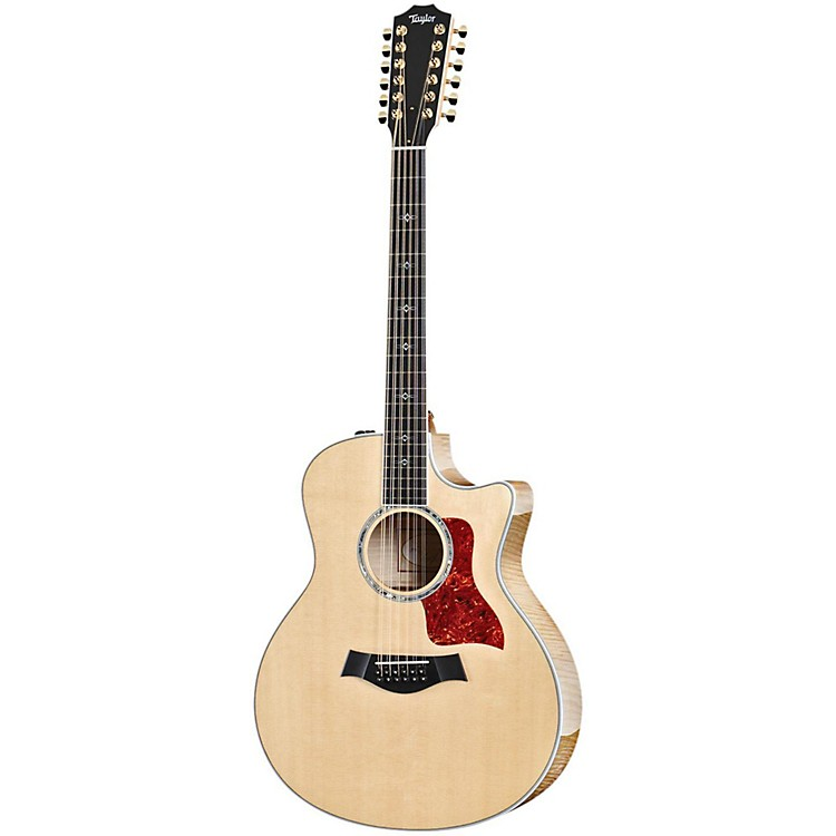 Taylor 656ce-2014 Grand Symphony 12 String Cutaway ES2 Acoustic-Electric Guitar Natural