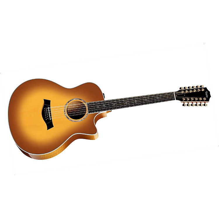 Taylor656ce Maple Grand Symphony 12-String Acoustic-Electric Guitar