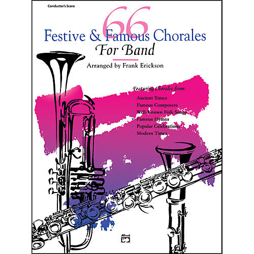 Alfred 66 Festive and Famous Chorales for Band 2nd E-Flat Alto Saxophone