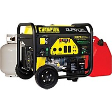 Champion Power Equipment 6750/8400 Watt LPG/9375/7500 Watt Gasoline Dual Fuel Electric Start Generator