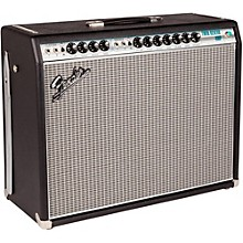 Fender '68 Custom Twin Reverb 85W 2x12 Tube Guitar Combo Amp with Celestion G12V-70s Speaker Black