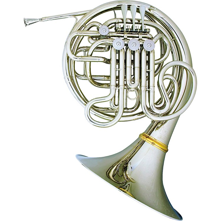 Hans Hoyer 6801NSA-L Heritage Double Horn Nickel Silver Screw Bell
