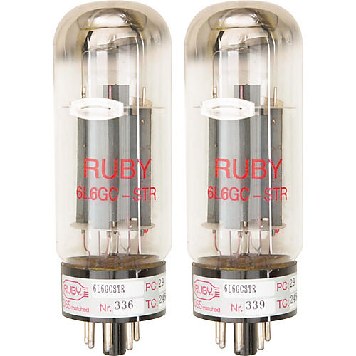 Ruby 6L6GCMSTR Matched Amp Tubes  Duet