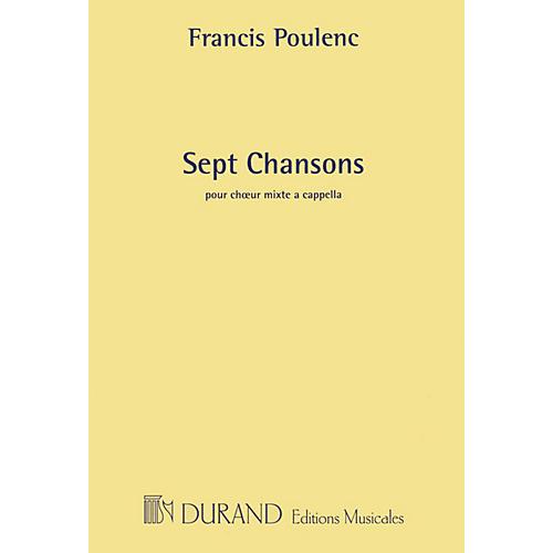 Editions Durand 7 Chansons (SATB a cappella chorus) SATB a cappella Composed by Francis Poulenc-thumbnail