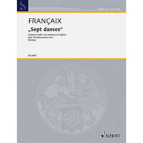 Schott 7 Dances from Les Malheurs De Sophie (Score) Schott Series by Jean Françaix-thumbnail