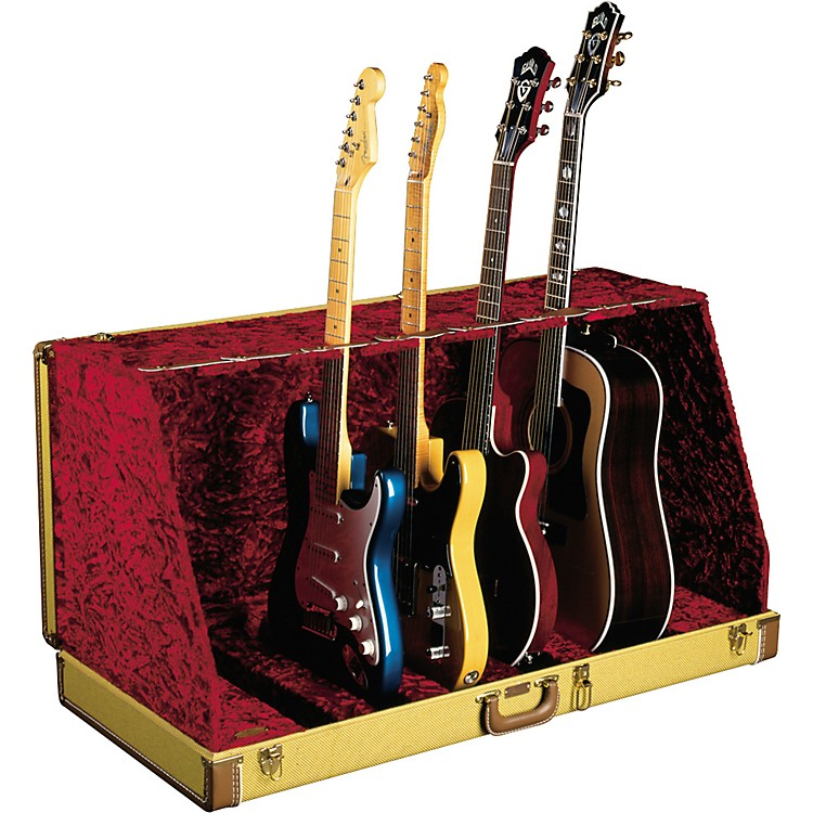 Fender 7 Guitar Case Stand Tweed