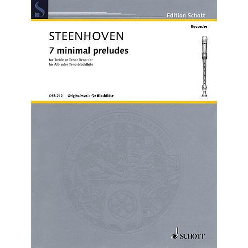 Schott 7 Minimal Preludes (Treble or Tenor Recorder) Woodwind Solo Series-thumbnail