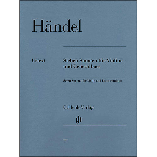 G. Henle Verlag 7 Sonatas for Violin and Basso Continuo By Handel-thumbnail