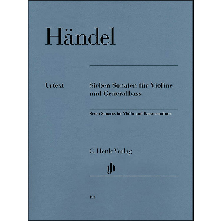 G. Henle Verlag 7 Sonatas for Violin and Basso Continuo By Handel