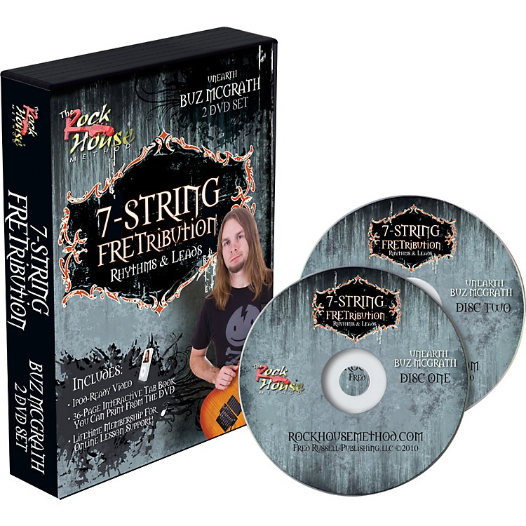 Rock House 7-String Fretribution Rhythyms & Leads 2 DVD Set