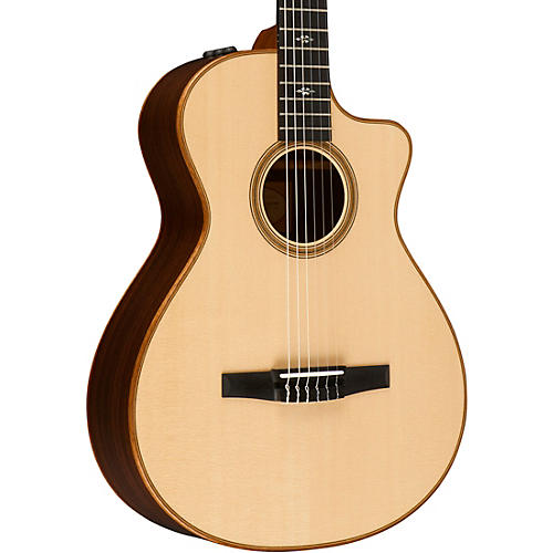 Taylor 700 Series 712ce-N Grand Concert Acoustic-Electric Nylon String Guitar-thumbnail