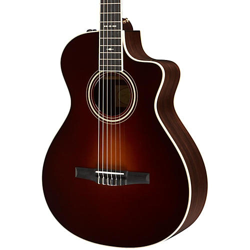 Taylor 700 Series 712ce-N Grand Concert Acoustic-Electric Nylon String Guitar Vintage Sunburst