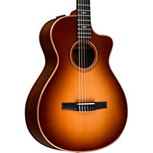 Taylor 700 Series 712ce-N Grand Concert Acoustic-Electric Nylon String Guitar Western Sunburst