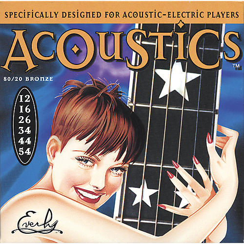 Everly 7012 Acoustics 80/20 Medium Acoustic-Electric Guitar Strings