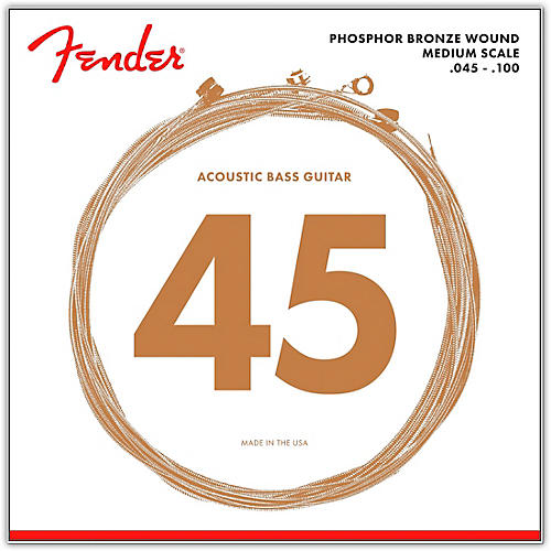 Fender 7060 Phospor Bronze Acoustic Bass Strings-thumbnail