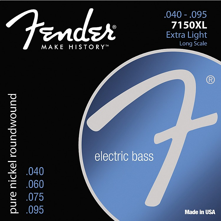 Fender 7150XL Pure Nickel Long Scale Bass Strings - Extra Light