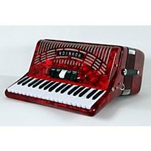 Hohner 72 Bass Entry Level Piano Accordion Level 2 Red 888366033890