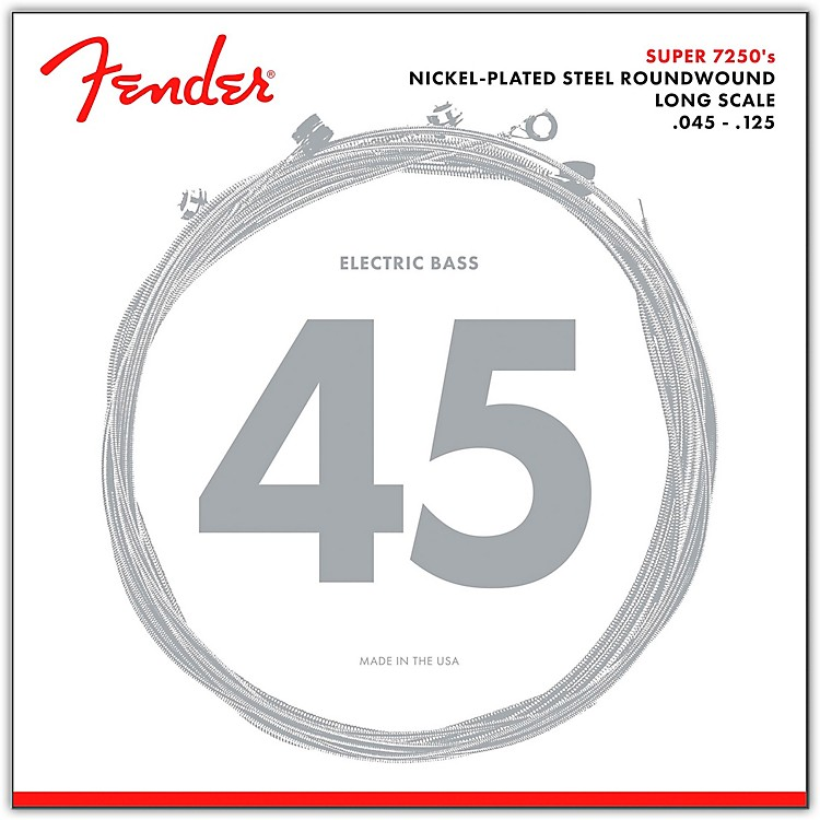 Fender 7250-5M Super Bass Nickel-Plated Steel Long Scale 5-String Bass Strings - Medium