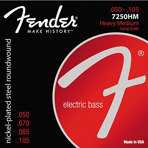 Fender 7250HM Super Bass Nickel-Plated Steel Long Scale Bass Strings - Heavy Medium