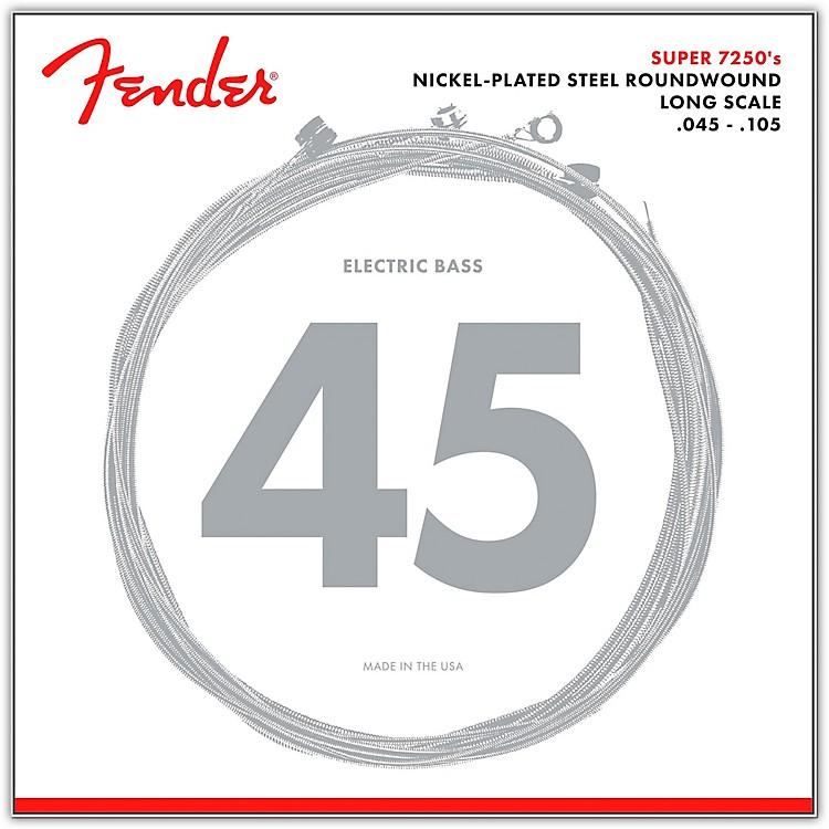 Fender7250M Super Bass Nickel-Plated Steel Long Scale Bass Strings - Medium