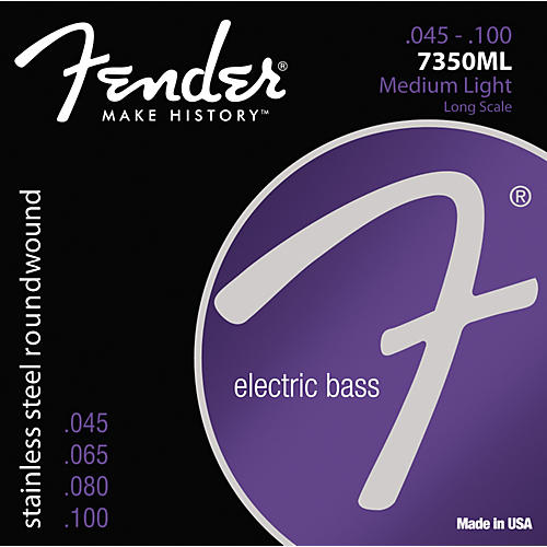 Fender 7350ML Stainless Steel Long Scale Bass Strings - Medium Light