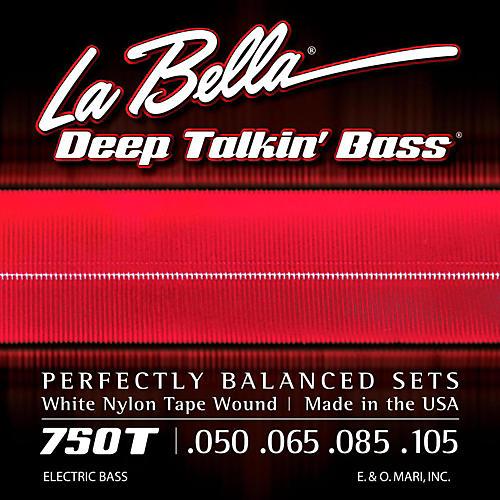 LaBella 750T White Nylon Tape Wound Light Electric Bass Strings-thumbnail