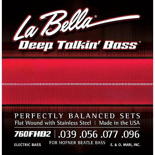 LaBella 760FHB2 Beatle Bass Flat Wound Light Electric Bass Strings